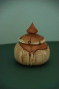 woodturning Bowl with Lid